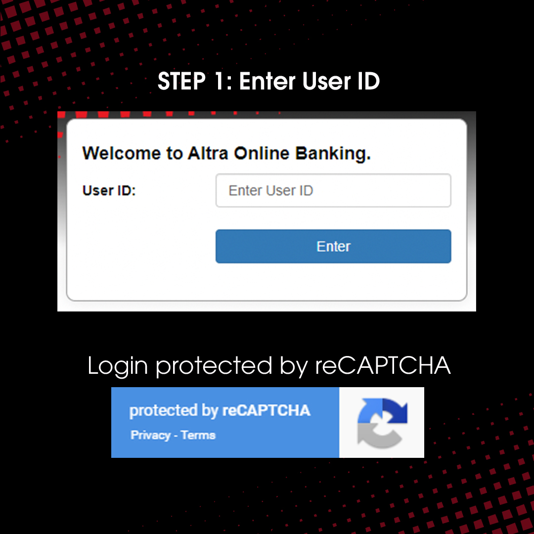 Step 1: Log in to Online Banking with Google Invisible reCAPTCHA 2